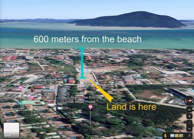 ขายที่ดินใสยวนใกล้หาดราไวย์ในซ.กิ่งพัฒนา 3 เนื้อที่ 2.5 ไร่ ขายเหมา 35 ล้าน