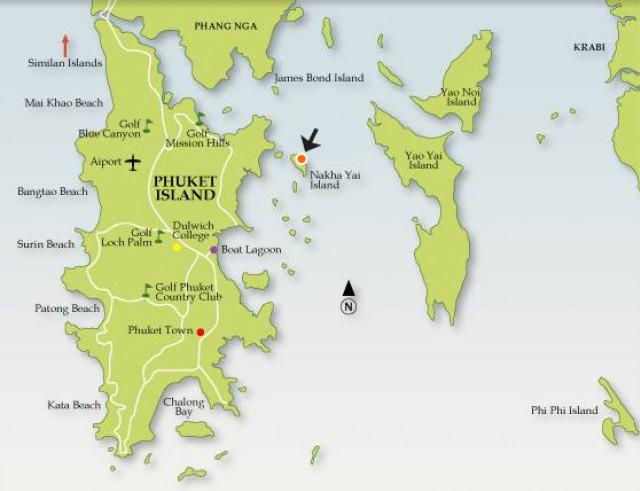 ขายที่ดินติดทะเลบนเกาะนาคาใหญ่ ถลาง ภูเก็ต เนื้อที่ 2 ไร่เศษ  ขาย 25 ล้านบาท