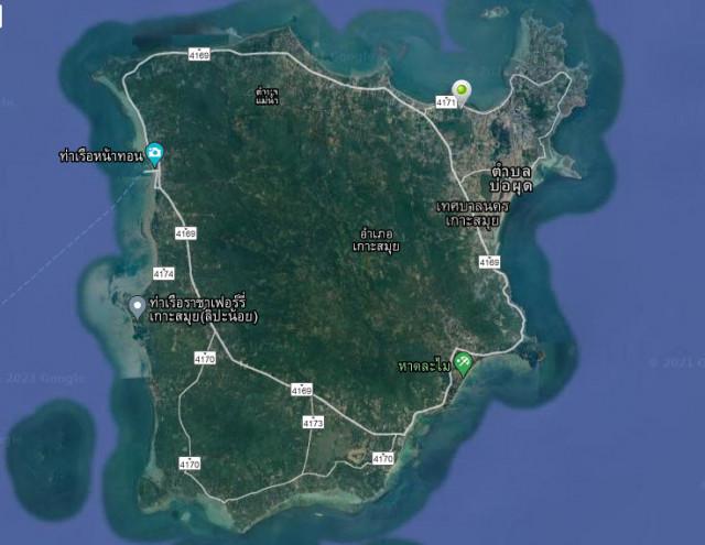 ขายที่ดินซีวิวเนินเขาและติดทะเลเกาะสมุย เนื้อที่ 13 ไร่ ขายเหมา 240 ล้าน