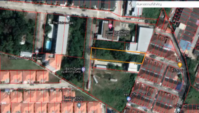 ขายที่ดินใกล้สวนพักผ่อนสวนหลวง ร.9 เมืองภูเก็ต เนื้อที่ 225.6 ตร.วา ขาย 8.5 ล้าน
