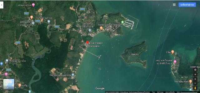 ขายด่วนที่ดินถลางหน้าติดทะเลท่าเรืออ่าวปอ ป่าคลอก เนื้อที่188.2ตร.วา พิเศษ18ล้าน